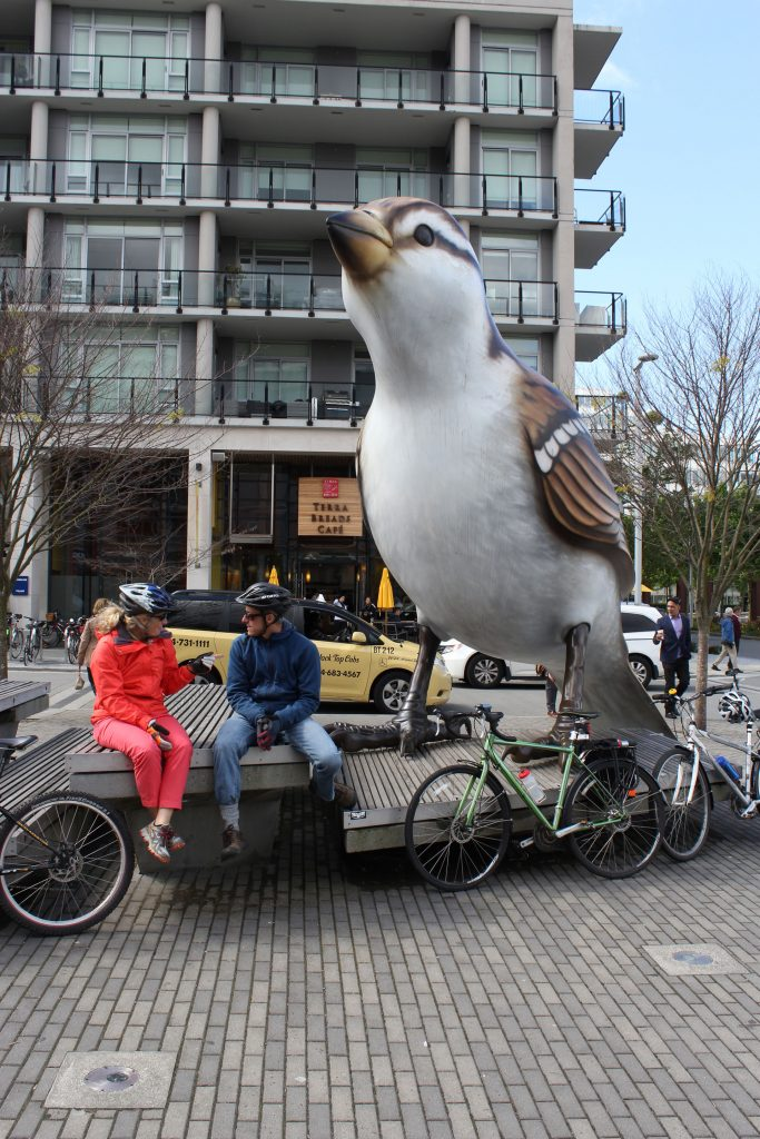 beside the big bird