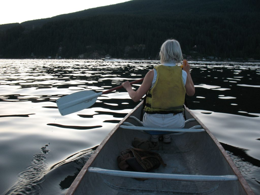 Canoeing on Indian Arm